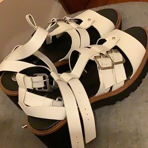 River Island White Strappy Sandals